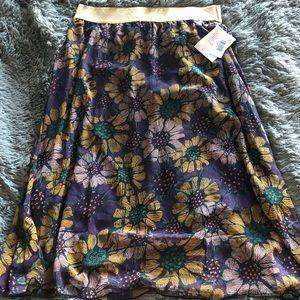 LuLaRoe Skirts - Medium purple and gold Lucy